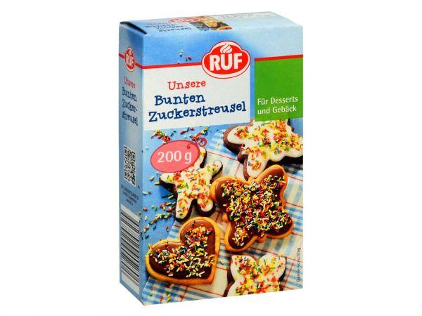 RUF Bunte Zuckerstreusel 200g