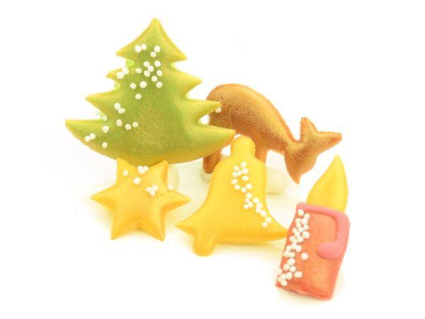 Weihnachtsdekore Marzipan 5er Set