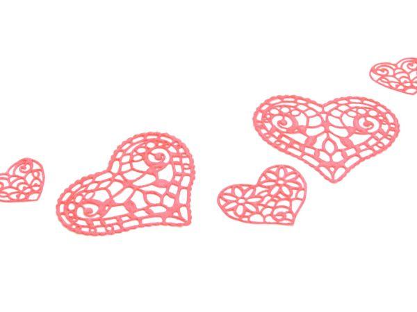 Spitzendekor-Matte Hearts