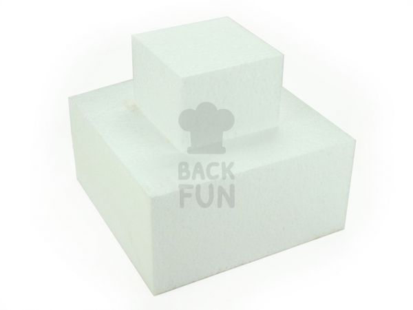 Torten-Dummy Quadrat 40cm, Höhe: 10cm