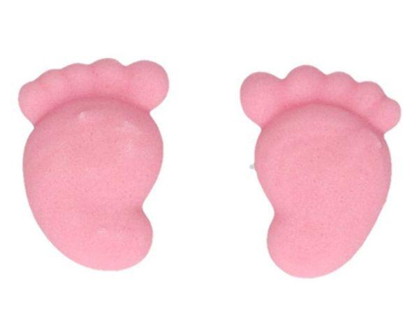 FunCakes Zuckerdekorationen Baby Füße Mädchen, 16er Set