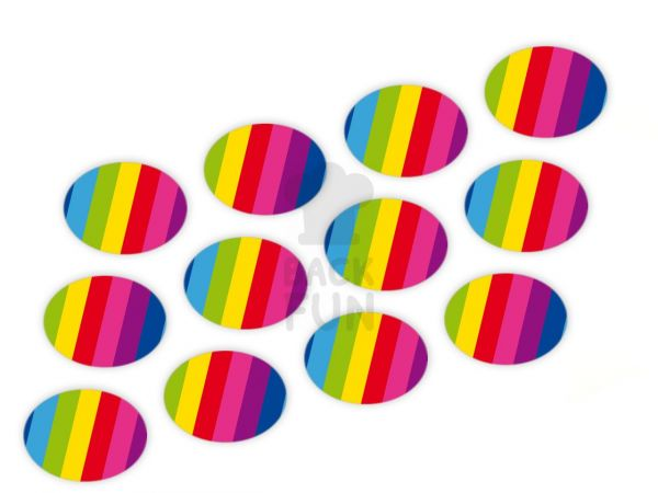 Cupcake Buttons Regenbogen 12 Stück