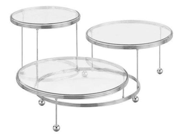 Etagere 3er mit kristallklaren Platten