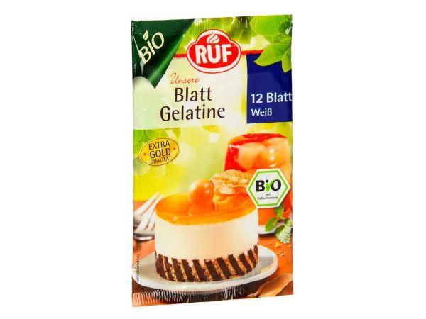 RUF Bio Blatt Gelatine Weiß 20g