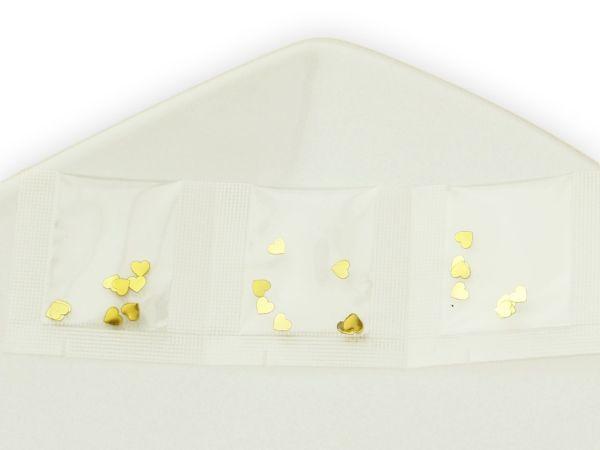 Minibeutel Herz gold 3er Pack