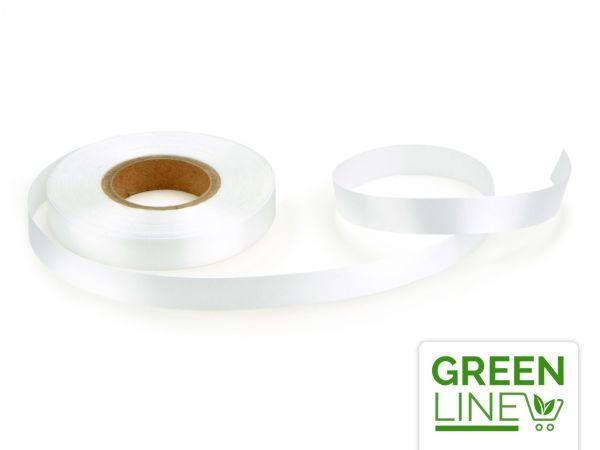 Satinband weiß 14mm, 30 Meter GREENLINE