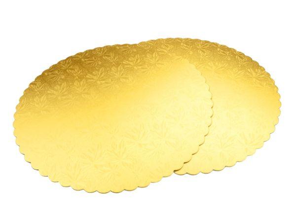 Cakeboard 34cm gold 2 Stück