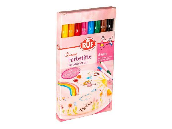 RUF Farbstifte für Lebensmittel 8er Set