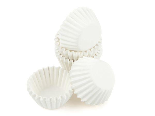 Pralinenkapseln MINI 22mm weiß 100 Stück