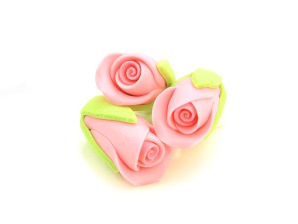 Rosenknospen rosa Zucker 3 Stück