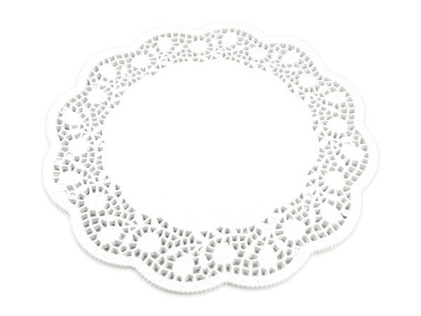 Tortenspitzen rund weiß 40cm 100 Stück