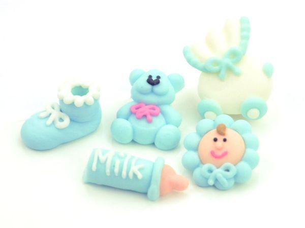Taufenset blau Zucker 5er Set
