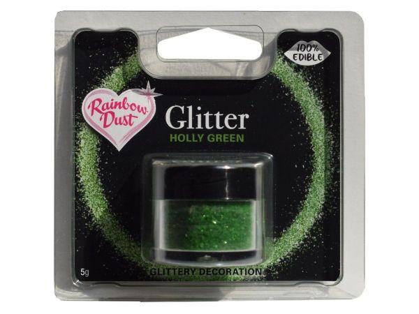 Glitzerpulver essbar holly green 5g