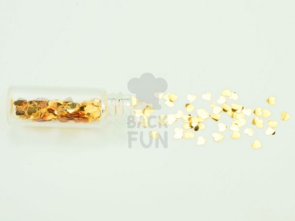 Mini-Flacon Herz gold
