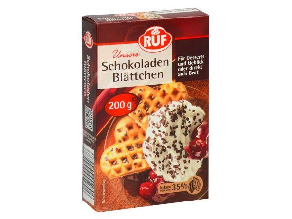RUF Schokoladen Blättchen 200g