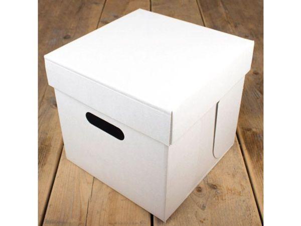 FunCakes Tortenschachtel weiß 25,5x25,5x25cm