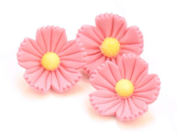 Blumen 30mm rosa Zucker 16 Stück