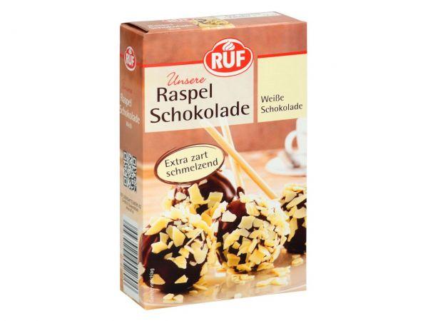 RUF Raspel Schokolade Weiß 100g