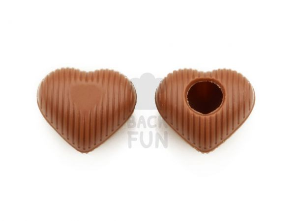 1 Folie Herz-Hohlkörper Mini Vollmilch