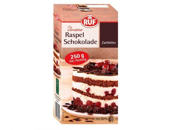 RUF Raspel Schokolade Zartbitter 250g
