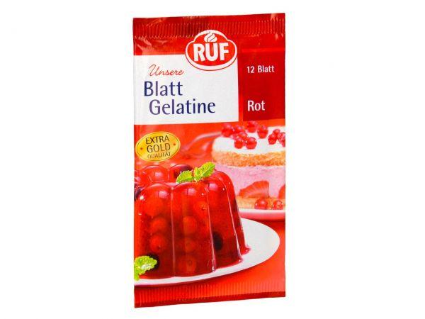 RUF Blatt Gelatine Rot 20g