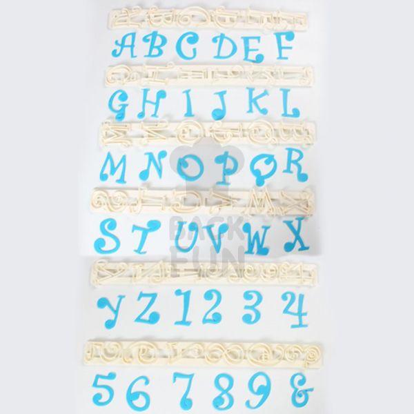 Buchstaben-Ausstecher Set Funky Großbuchstaben + Zahlen