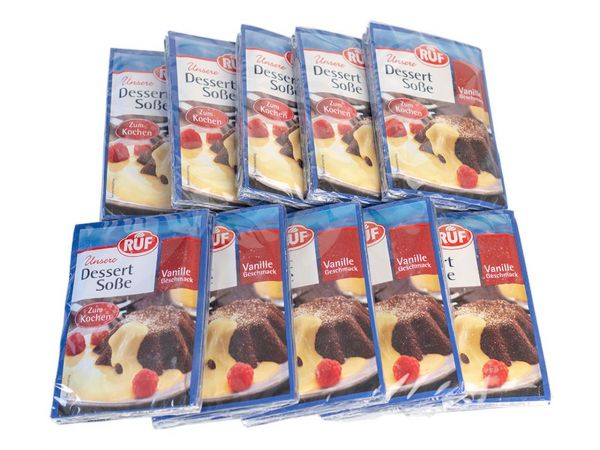 10x RUF Vanillesoße zum Kochen 3er Pack 3x18,5g