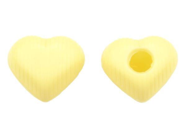 1 Folie Herz-Hohlkörper Medium Weiß