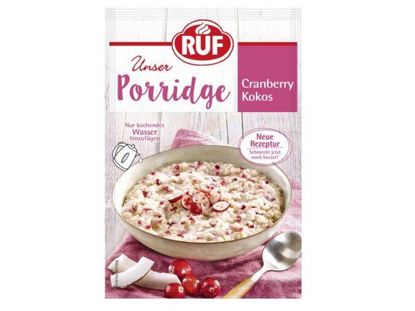 RUF Porridge Cranberry Kokos 65g