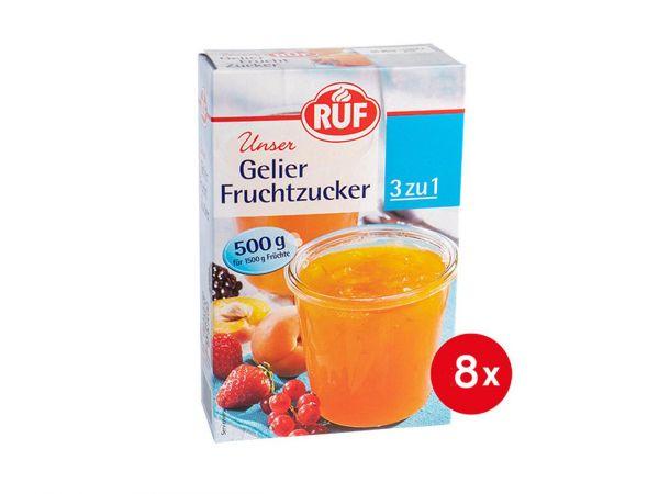 8x RUF Gelier Fruchtzucker 500g