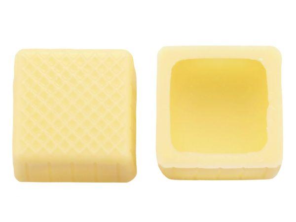 1 Folie Karree-Schalen Weiß