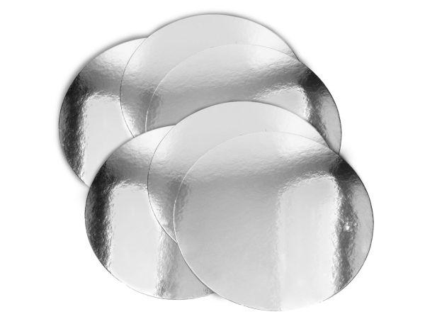 Silver Plate 25cm silber glänzend 6 Stück