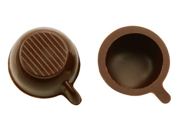 1 Folie Tassen-Schalen Zartbitter
