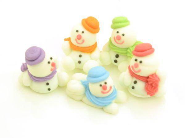 Schneemänner Zucker 5 Stück