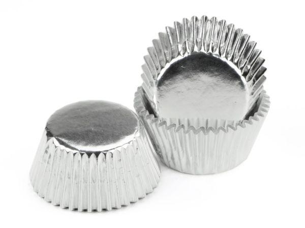 Muffinkapseln 50mm Alu silber 60 Stück