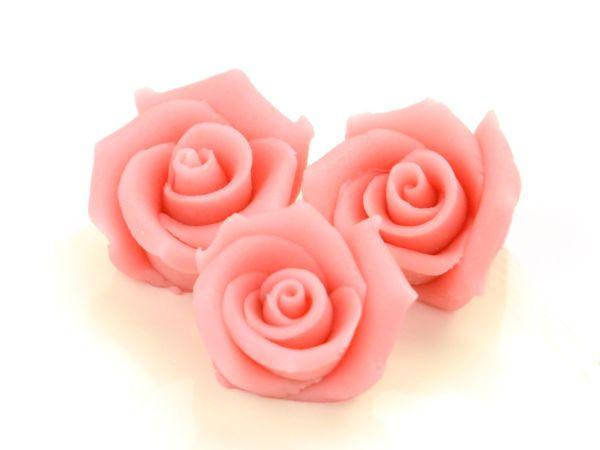 Marzipan-Rosen mittel rosa 4 Stück