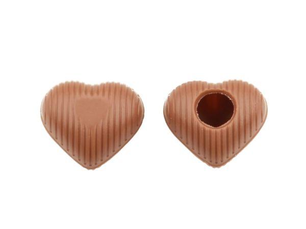 8 Folien Herz-Hohlkörper Mini Vollmilch