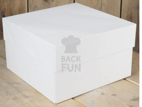 FunCakes Tortenschachtel weiß 35x35x15cm