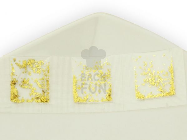 Minibeutel Flitter grob gold 3er Pack