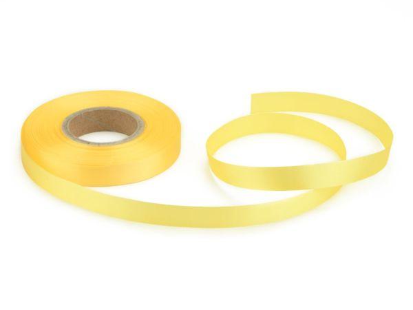 Satinband pastellgelb 14mm, 30 Meter