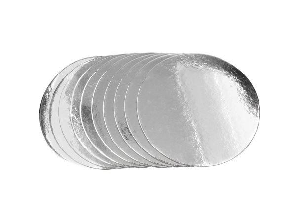 Silver Plate 15cm silber glänzend 10 Stück