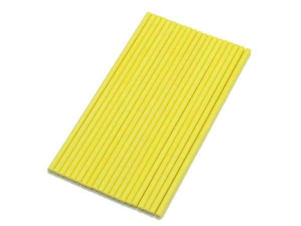 Stiele für Lollis 20 Stück 15cm gelb