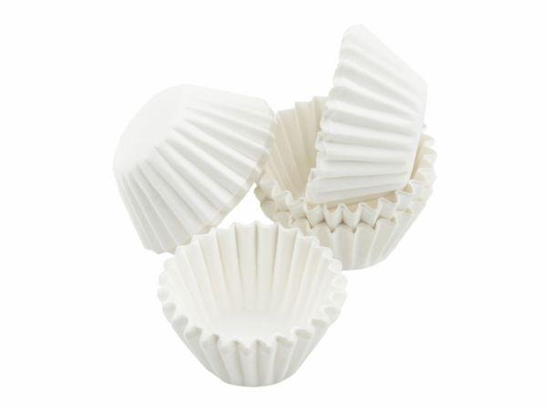Pralinenkapseln 25mm weiß 100 Stück