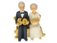Tortenaufsatz goldene Hochzeit