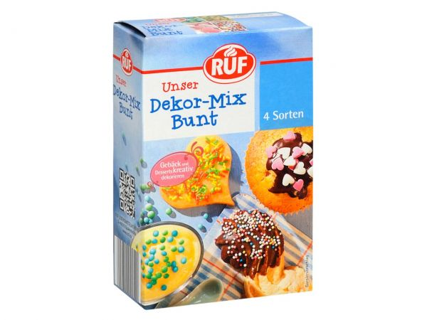 RUF Dekor-Mix Bunt 4er Pack 2x50g, 2x30g