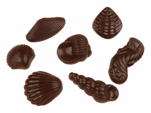 Schokoladenform Meeresfrüchte 9er