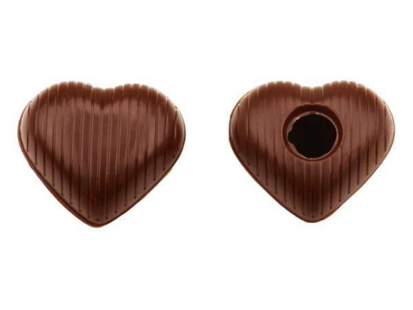 1 Folie Herz-Hohlkörper Medium Zartbitter