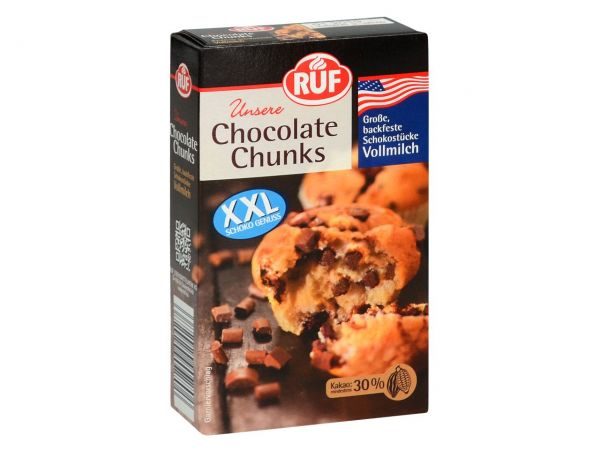 RUF Chocolate Chunks Vollmilch 100g