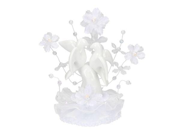 Aufsatz Porzellan mit Hochzeitstauben