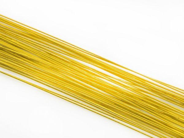 Blumendraht metallic gold 24G 50 Stück